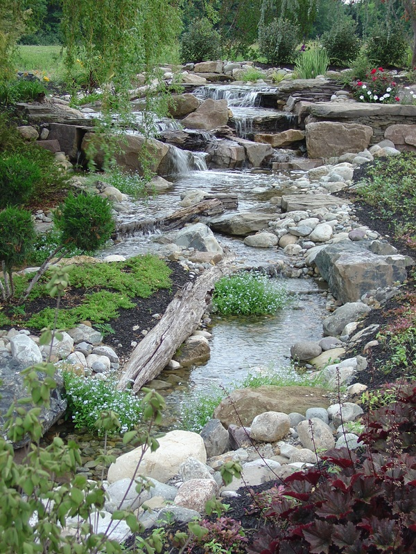 Streams installation service in Rochester New York (NY By Certified Aquascape Contractors - Acorn Ponds & Waterfalls