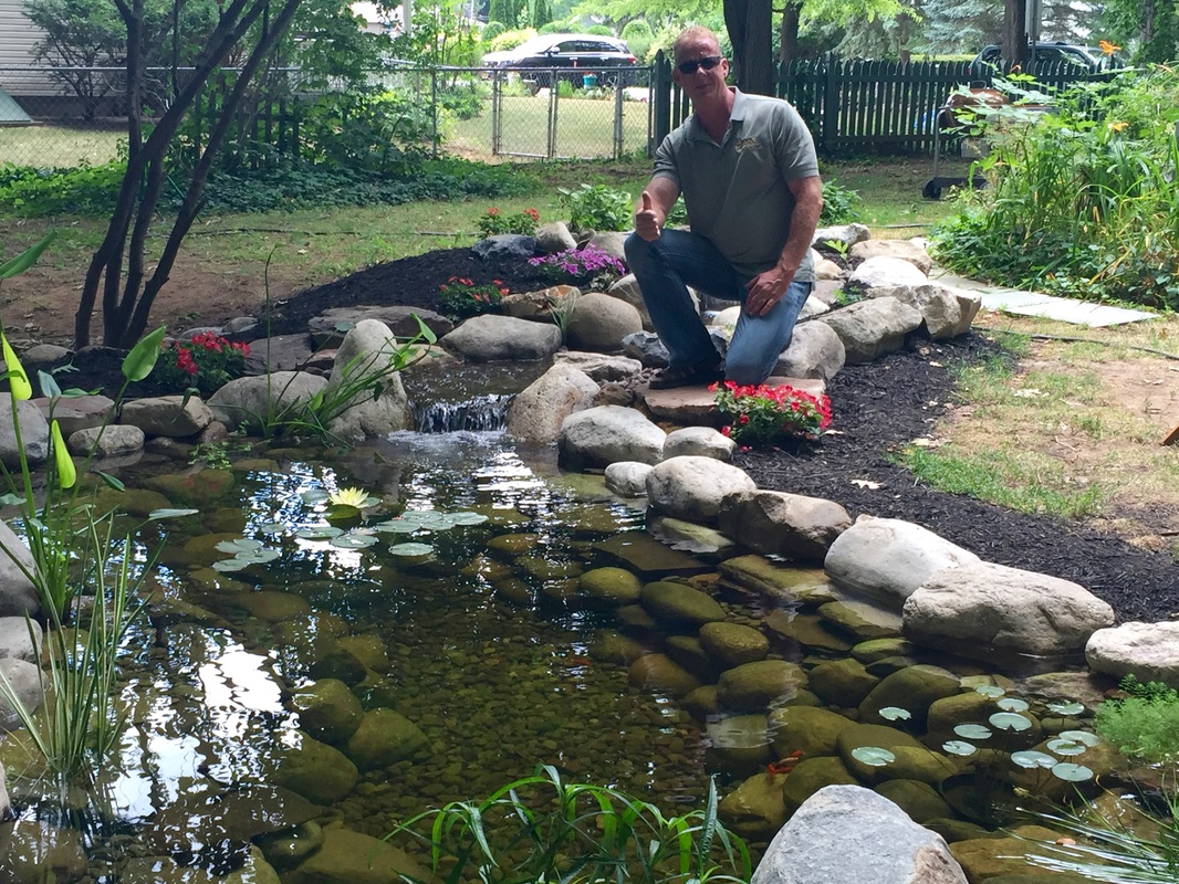 Garden pond installation review rochester new york ny for Pond installation