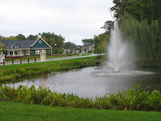 Retention Pond aeration, Rochester Monroe County NY