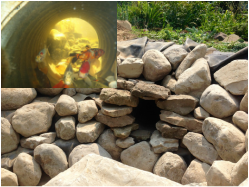 """Built in"" fish caves offer your koi pond fish protection from animal/bird predators"