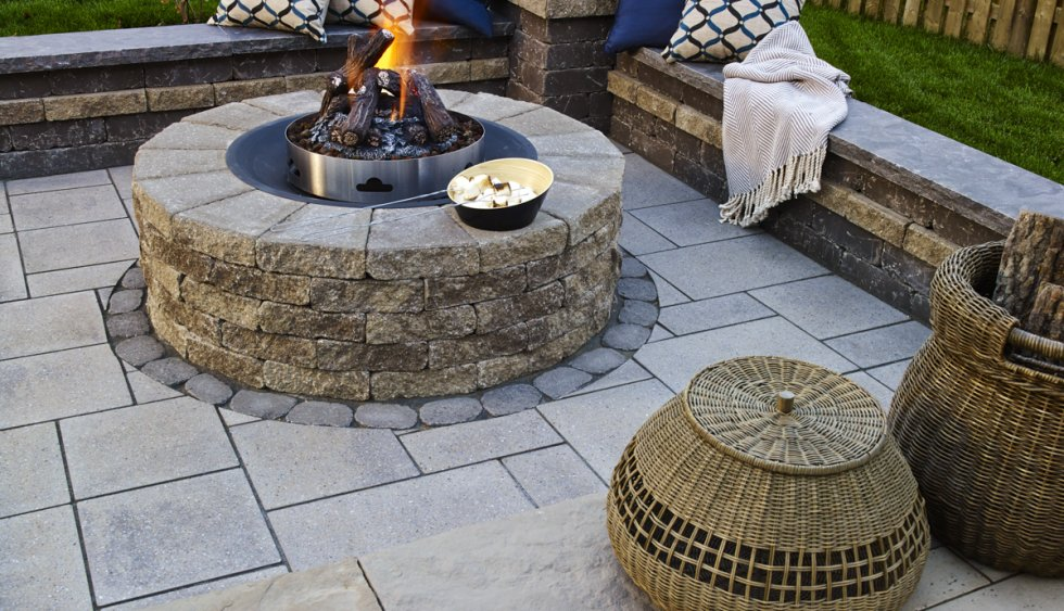 Fire pit design & installation service in Rochester New York (NY) by Acorn Ponds & Waterfalls
