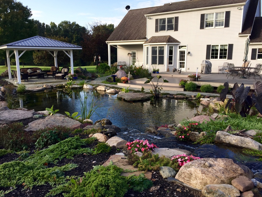 Call 585.442.6373 To Contact Landscape Designers Of Rochester New York (NY) - Acorn Ponds & Waterfalls