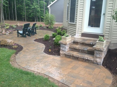 Rochester New York (NY) Wall With Steps & Patio Installed #6