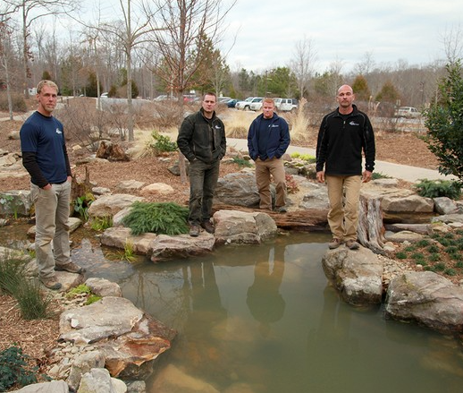 Pond construction & Installation Contractors. Image