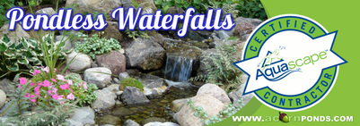 Pondless Waterfalls Services In Rochester (NY) By Certified Pond Contractors, Acorn Ponds & Waterfalls. Pondless Waterfalls Image
