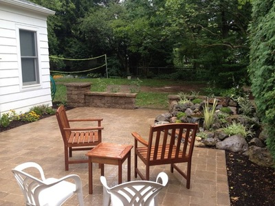Rochester New York (NY) Retaining Wall With Pondless Waterfall & Patio Installed #7