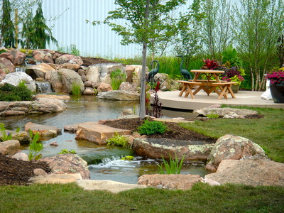 Fish Pond Installation by Acorn Ponds & Waterfalls Rochester NY