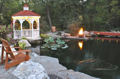 Recreational pond construction Rochester NY by Acorn Ponds & Waterfalls