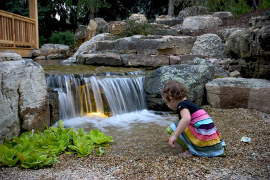 Pondless Waterfalls Are Great Landscaping Ideas For Outdoor Living Areas In Rochester New York (NY)
