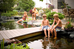 Water Features & Outdoor Living Ideas In Rochester NY By Certified Pond Contractors - Acorn Ponds & Waterfalls. Image