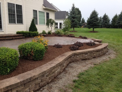 Retaining Wall Renovation & Repair, Landscape Design, Rochester, Monroe County NY By Acorn Ponds & Waterfalls - Rochester's premiere retaining wall installation contractors Image