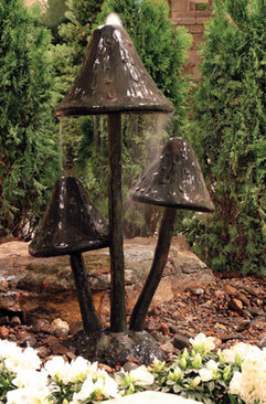 Mushroom fountain are great landscape ideas for indoors & outdoors in Rochester New York (NY)