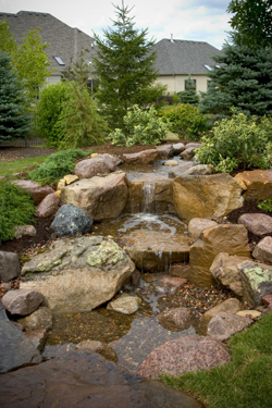 Have your Pondless Waterfalls installed right….The First Time! Hire A certified pro [Acorn Ponds & Waterfalls]