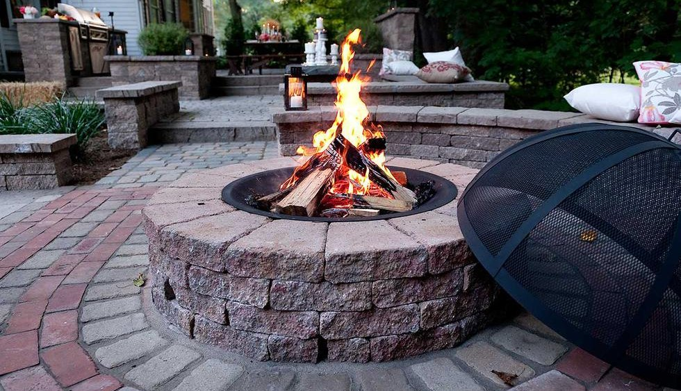 How about a fire feature installed next to your fire pit or backyard patio in Rochester New York (NY) ?