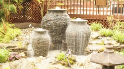 Patio & deck garden art decoration ideas for small or large outdoor spaces in Rochester New York (NY) - Acorn Ponds & Waterfalls