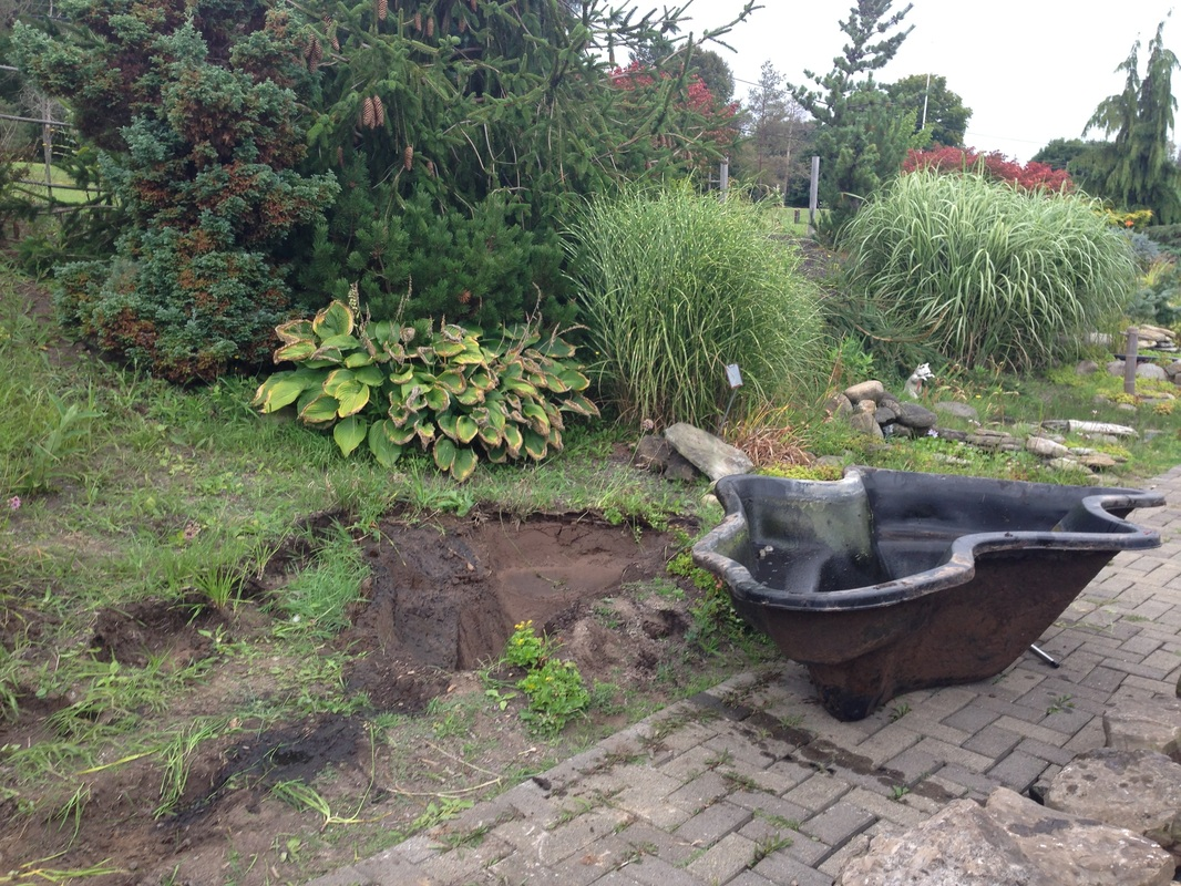 Pond liner installation repair replacement services for Plastic pond tub