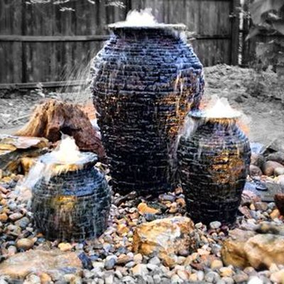 Bubbling urns water feature ideas - Rochester NY
