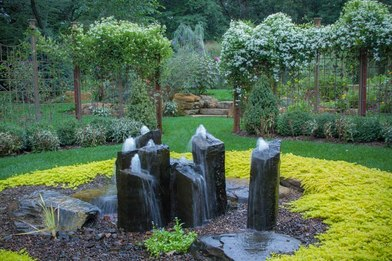 Yard fountains for outdoor living areas in Rochester New York (NY)