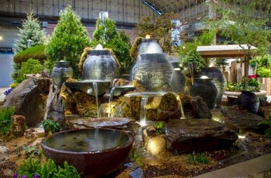 Garden decoration ideas with fountains & water features in Rochester New York (NY) 585.442.6373