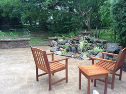 Pondless waterfall water features are waterfalls without the pond in Rochester New York (NY) - Acorn