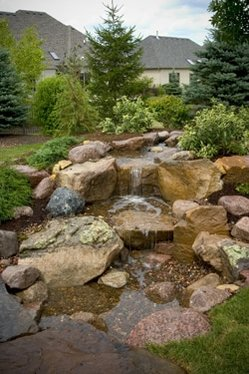 Backyard Waterfall Features in Rochester NY By Acorn Ponds & Waterfalls