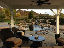 Pavillions, decks & gazebos for enhancing your fish ponds & outdoor living area in Rochester New York (NY) - Acorn Ponds & Waterfalls.