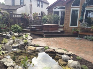 Backyard fish ponds and Landscape ideas in Rochester New York, (NY) near me