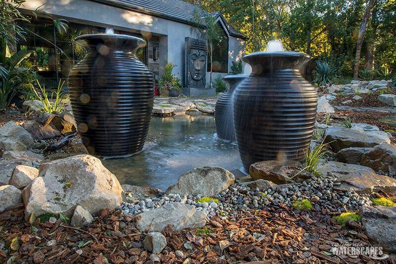 Urns & Pondless Water Feature Rochester New York (NY)