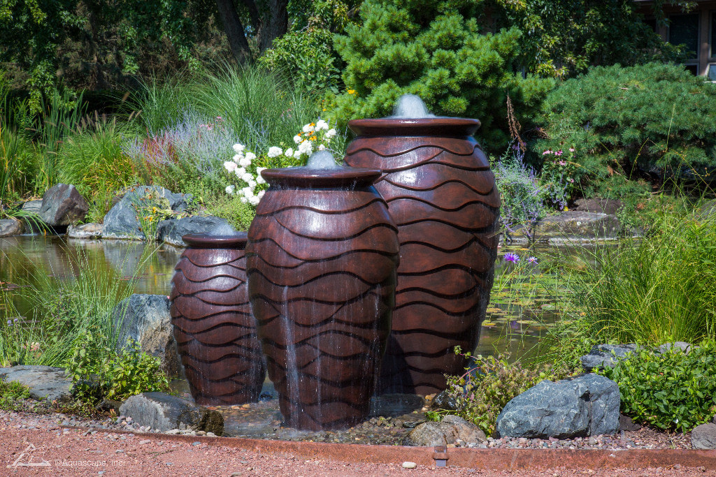 Water feature with 3 bubbling urns Rochester New York (NY)
